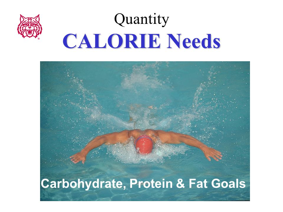 CALORIE Needs Quantity CALORIE Needs Carbohydrate, Protein & Fat Goals
