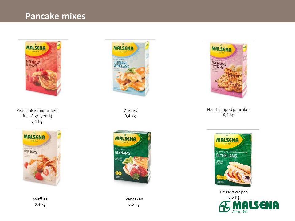 Pancake mixes Yeast raised pancakes (incl.8 gr.