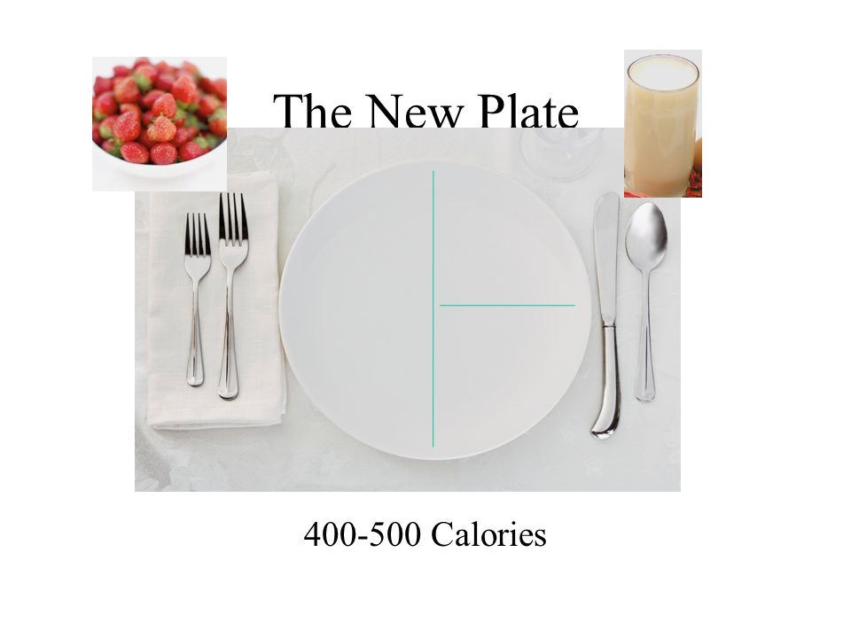 The New Plate 400-500 Calories