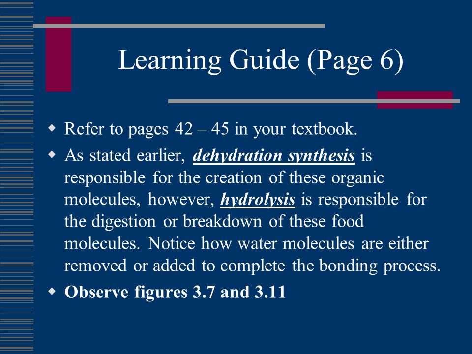 Learning Guide (Page 6)  Refer to pages 42 – 45 in your textbook.