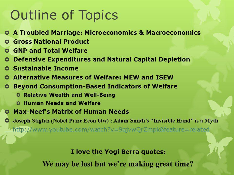 Summarizing Ideas  Microeconomics focuses on Markets and avoids policy prescriptions.