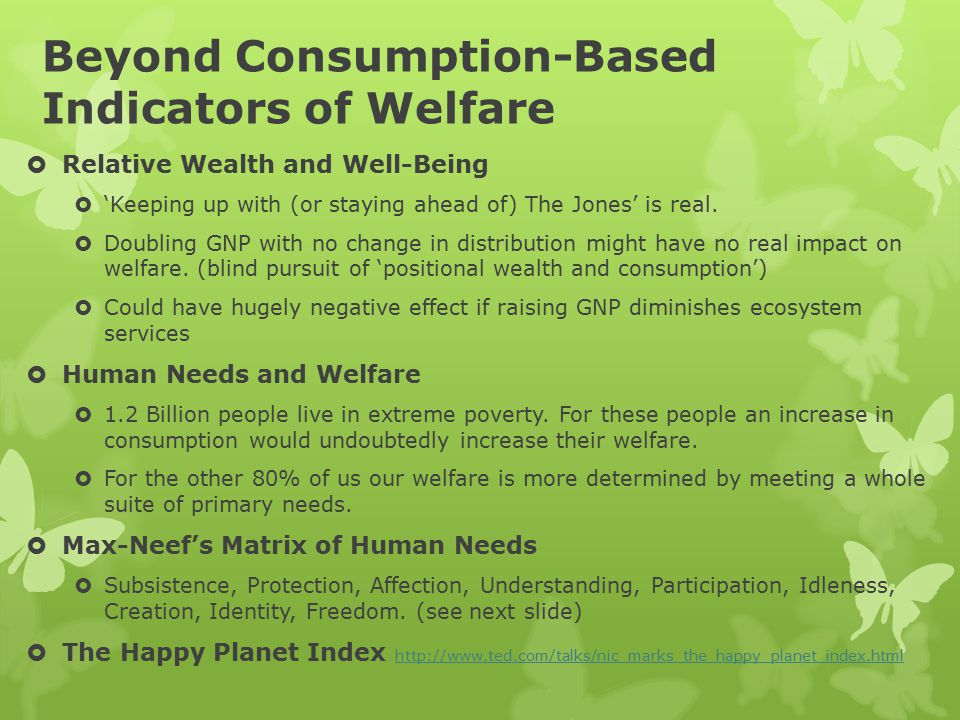 Beyond Consumption-Based Indicators of Welfare  Relative Wealth and Well-Being  'Keeping up with (or staying ahead of) The Jones' is real.