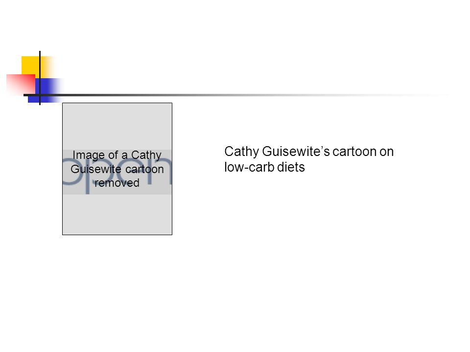 Image of a Cathy Guisewite cartoon removed Cathy Guisewite's cartoon on low-carb diets