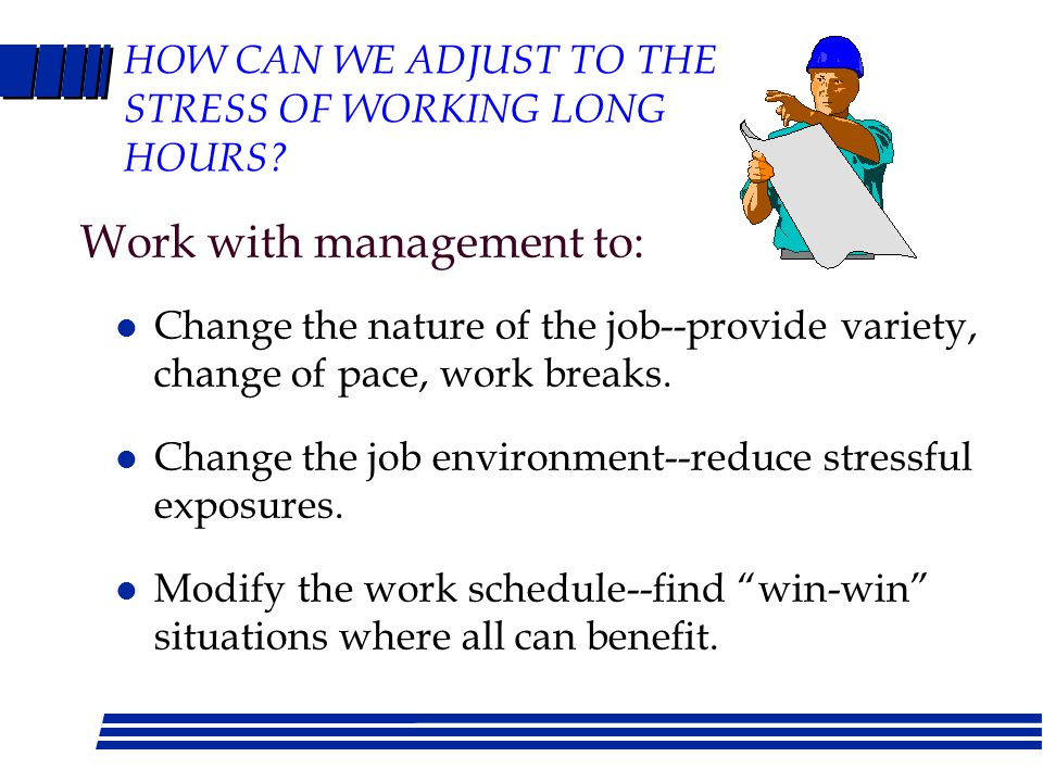 FIGHTING FATIGUE AT WORK What should you do.