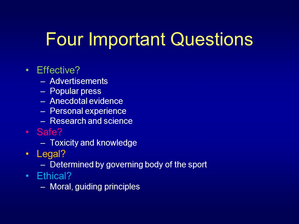 Four Important Questions Effective.