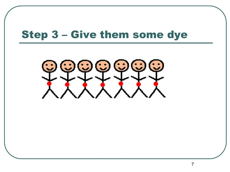 7 Step 3 – Give them some dye