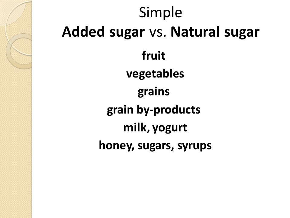 Simple Added sugar vs.