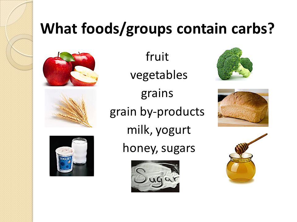 Carbohydrates Simple and Complex Simple structure Label as syrups 'ose' suffix common Glucose: blood sugar Fructose, sucrose, lactose Complex structure Bulk of calorie intake Starch, fiber, glycogen Chains of glucose Fruit SugarCane, Beet etc.