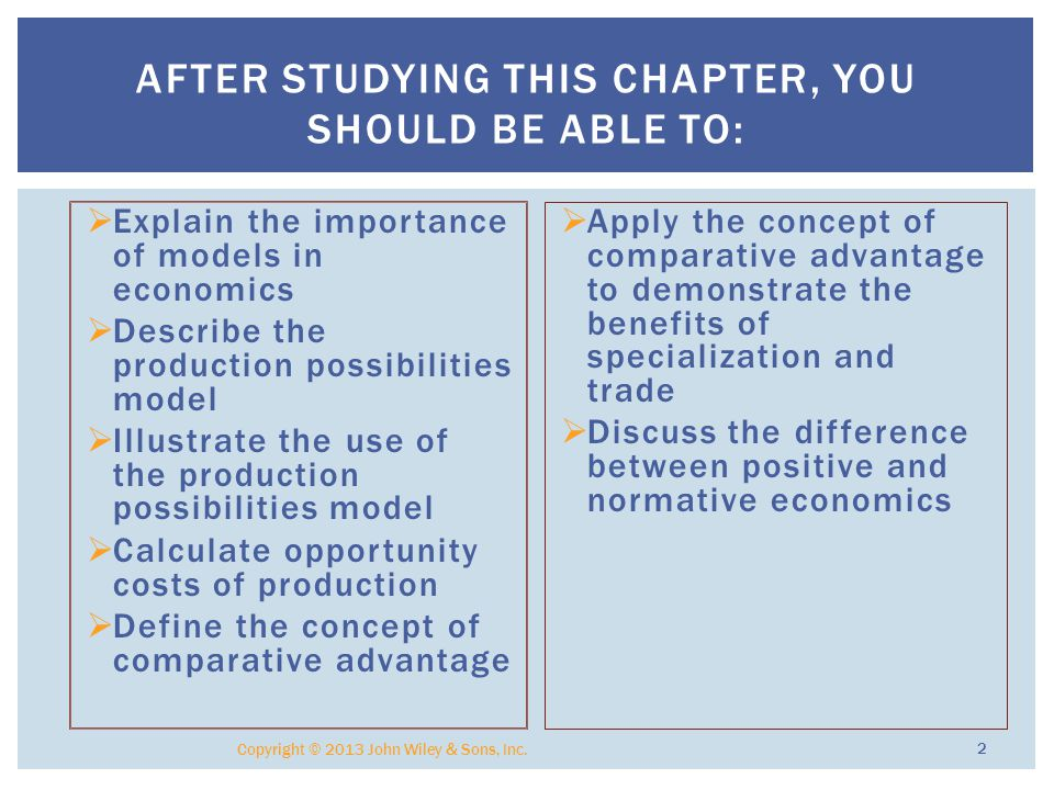  Models are used in economics and most other sciences to represent reality.