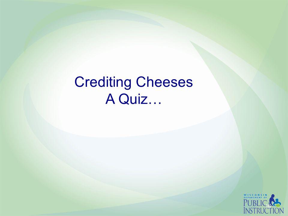 Crediting Cheeses A Quiz… 16
