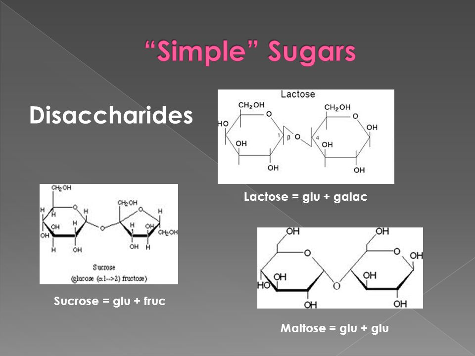  Body breaks down disaccharides into monosaccharides  Metabolized by the liver to become either: › Glucose which is used by muscles for energy › Glycogen which is stored by the liver  Glucose is important to maintain bodily functions and energy