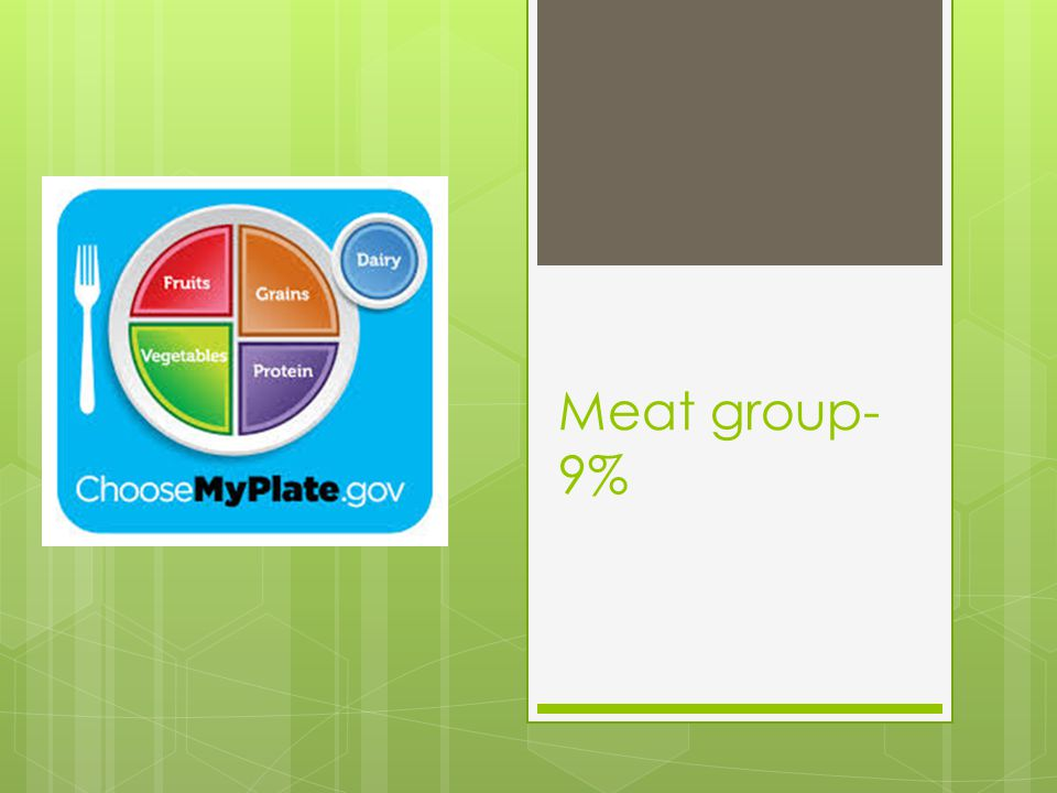 Meat group- 9%