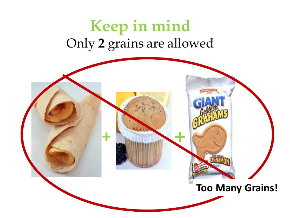 Keep in mind Only 2 grains are allowed + + Too Many Grains!