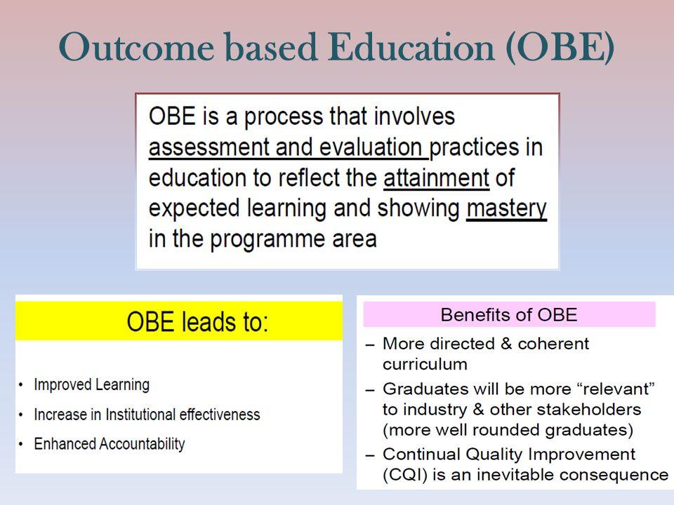 Outcome based Education (OBE)