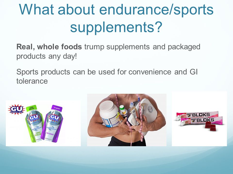 What about endurance/sports supplements.
