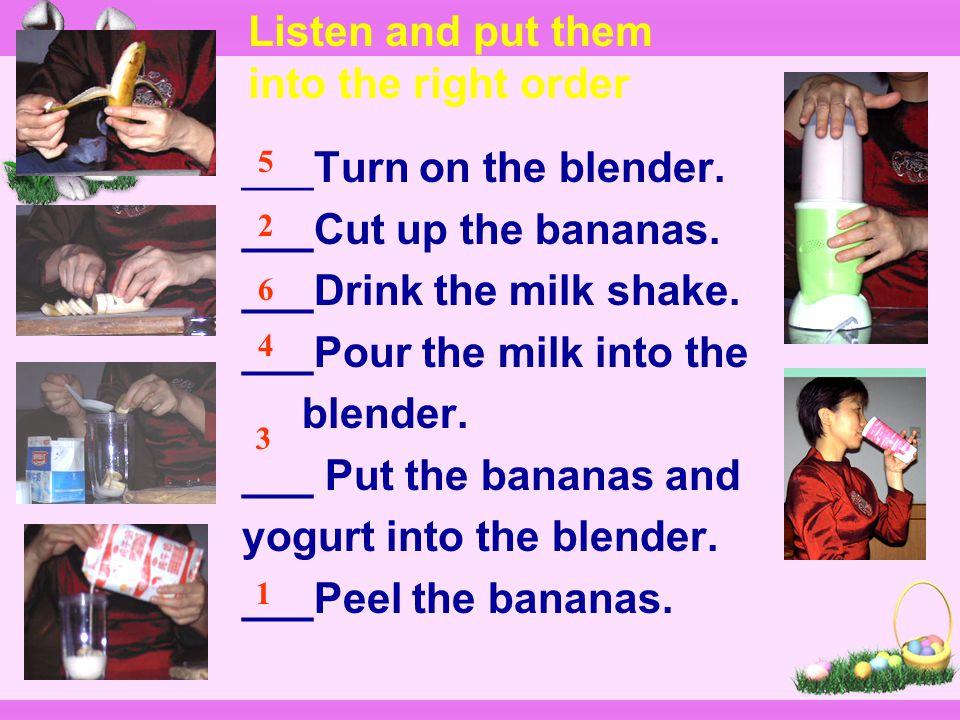 Task One: How to make fruit salad?