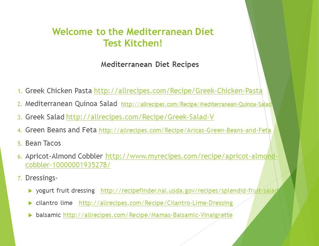 Mediterranean Diet Martha Archuleta, PhD, RD