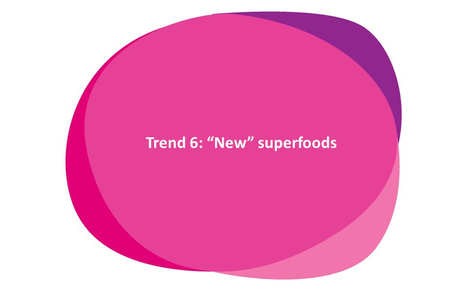 www.innovadatabase.com Trend 6: New superfoods delay