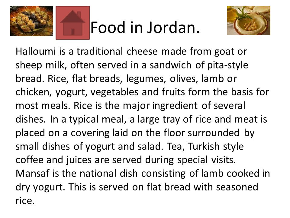Food in Jordan.