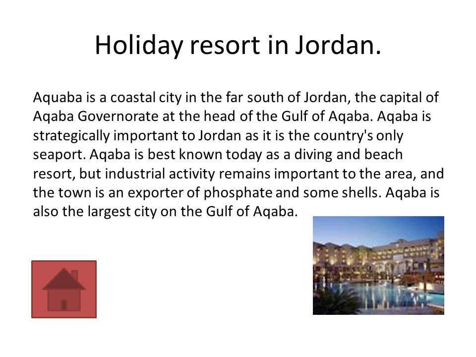 Holiday resort in Jordan.