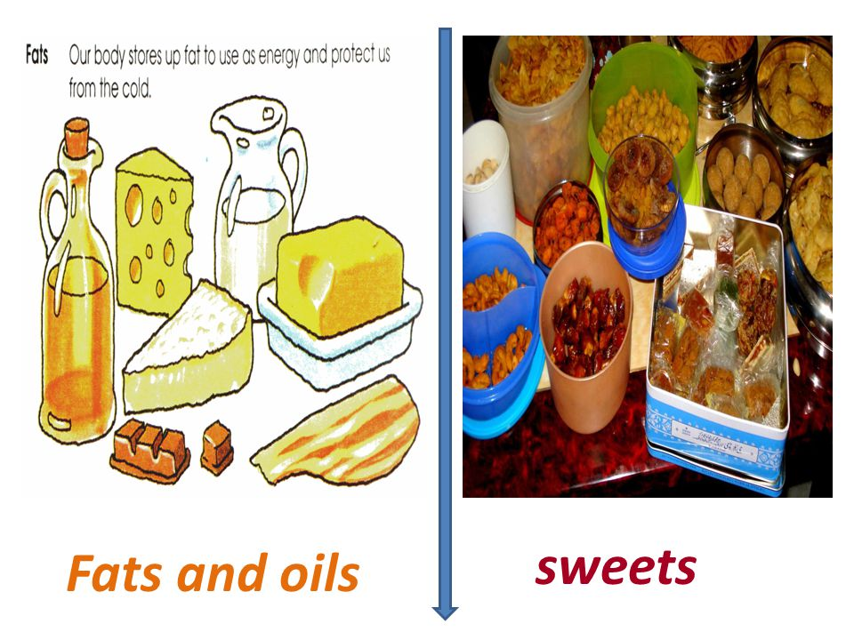 Fats and oils sweets