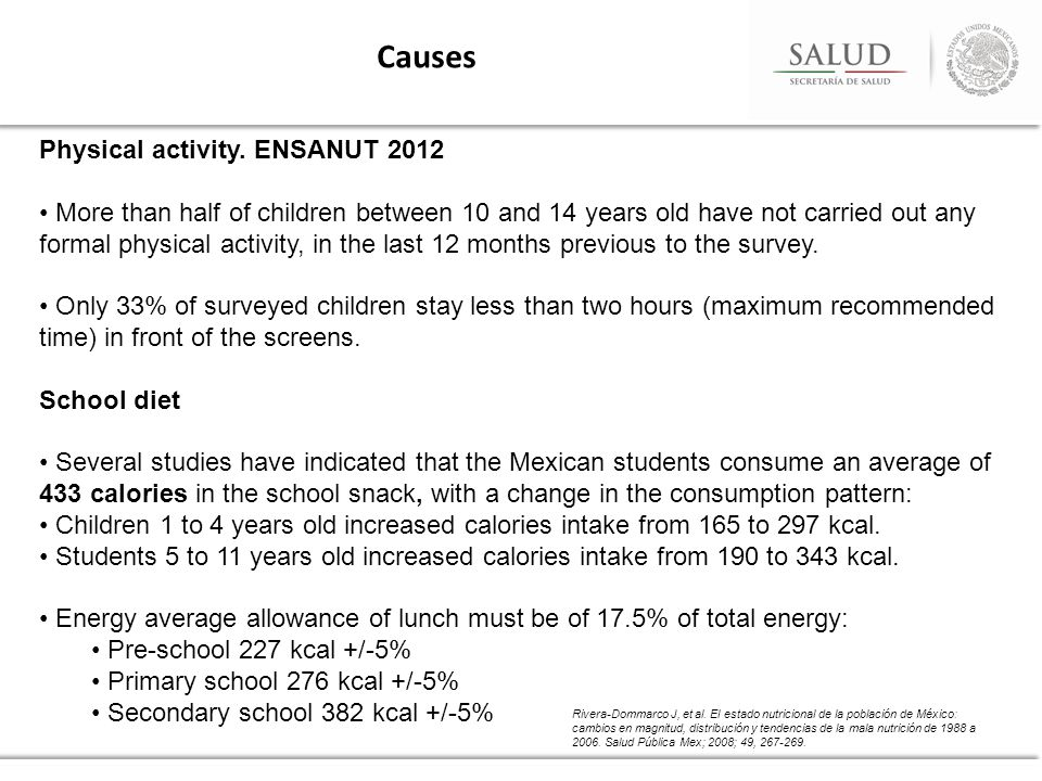 Causes Physical activity.