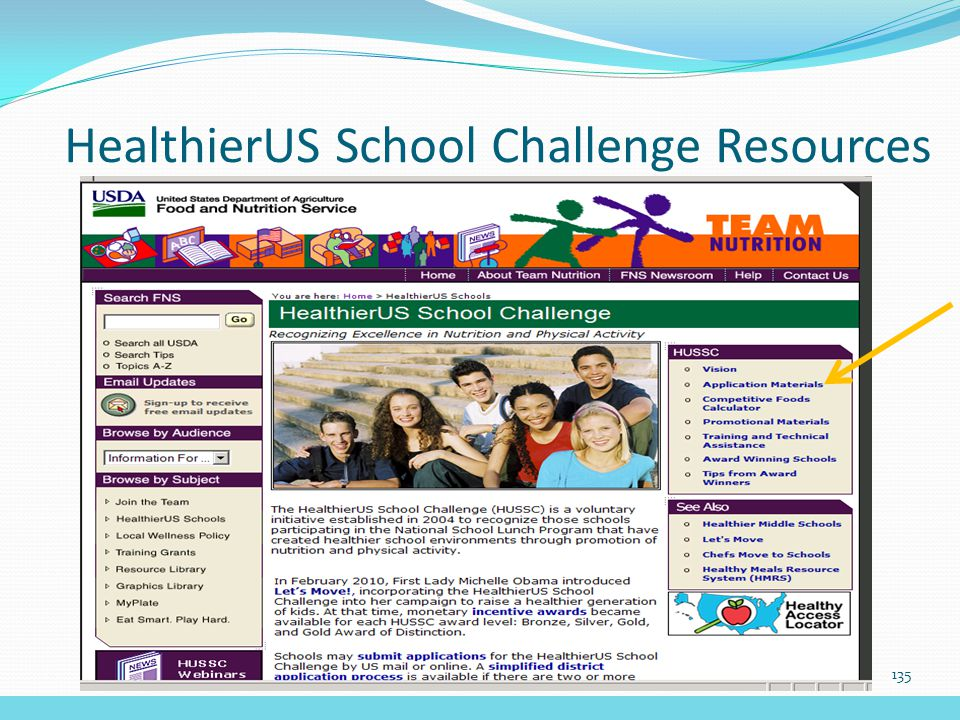 HealthierUS School Challenge Resources 135
