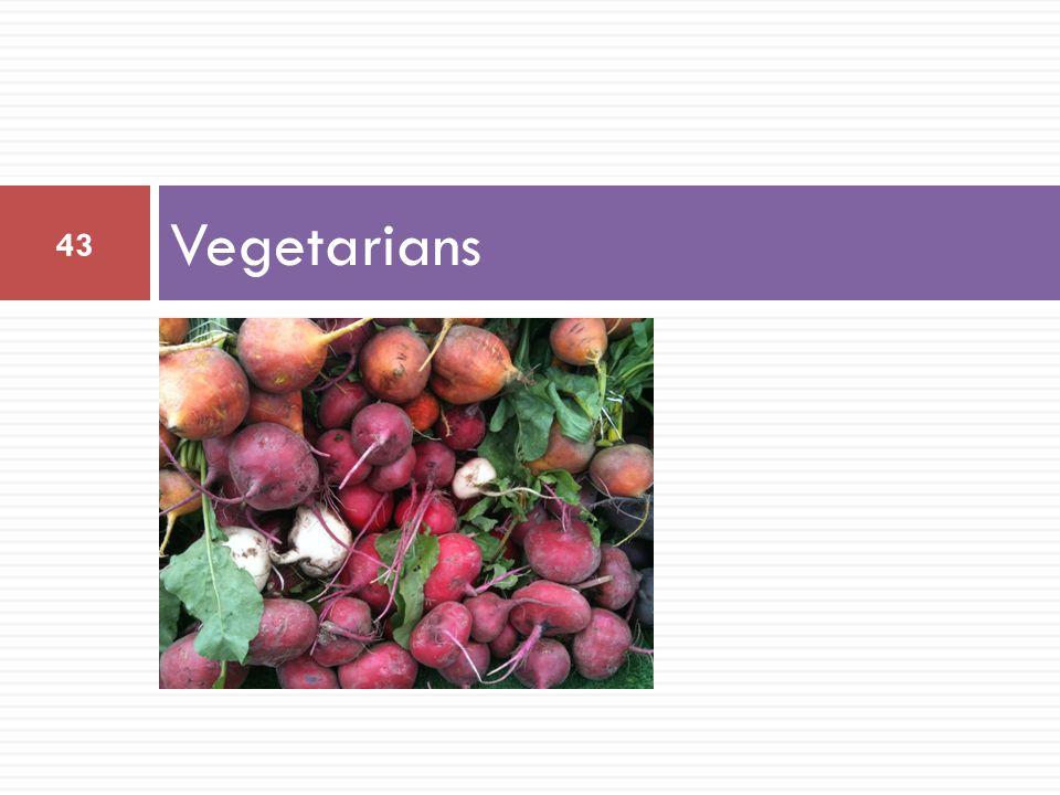 Vegetarians 43