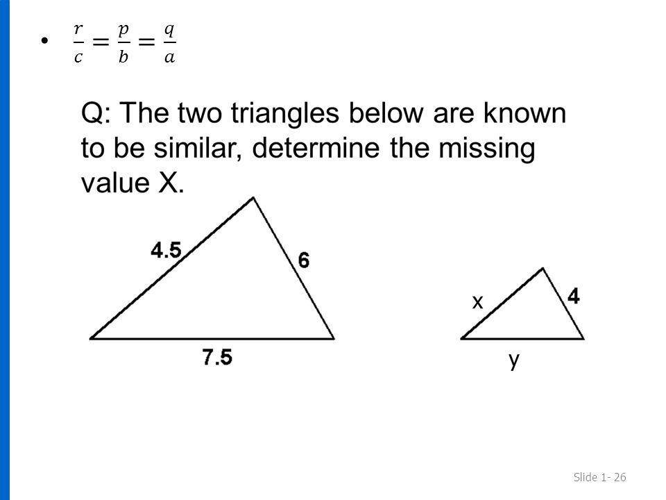 Slide 1- 26 x y