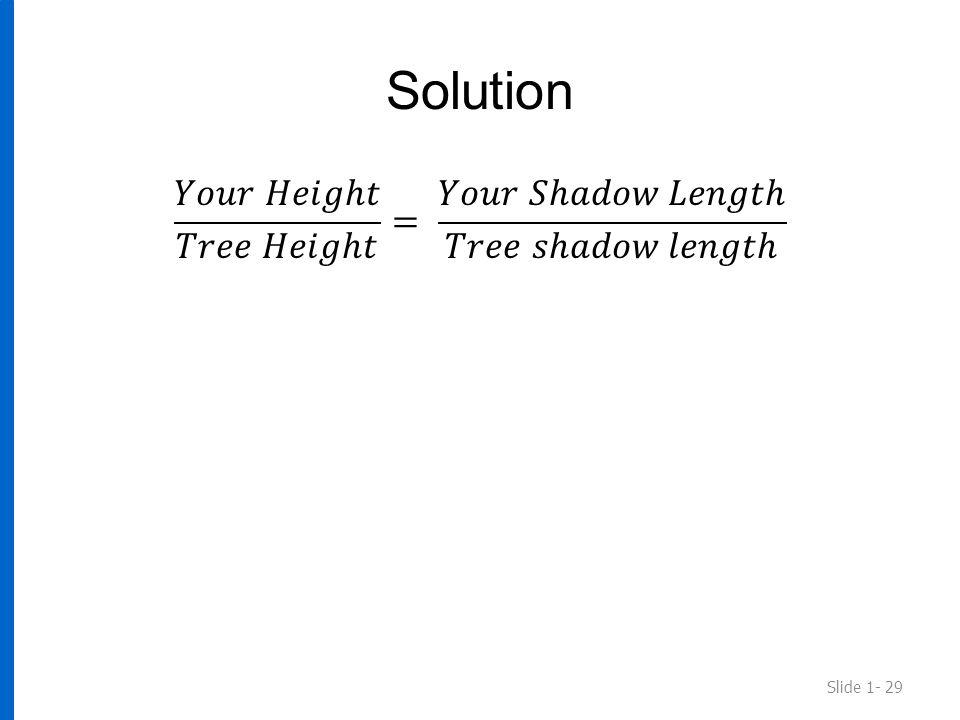 Solution Slide 1- 29