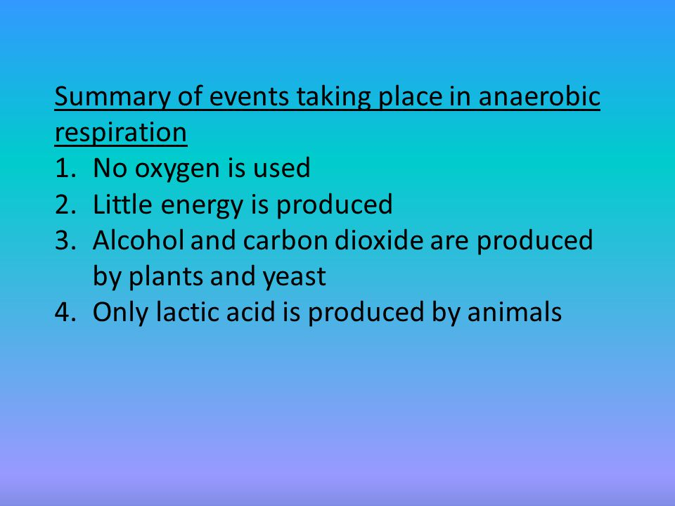 Industrial & Domestic Applications of Anaerobic Respiration  Fermentation.