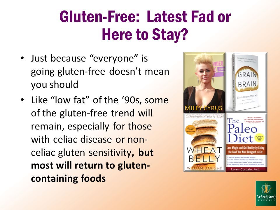 Gluten-Free: Latest Fad or Here to Stay.