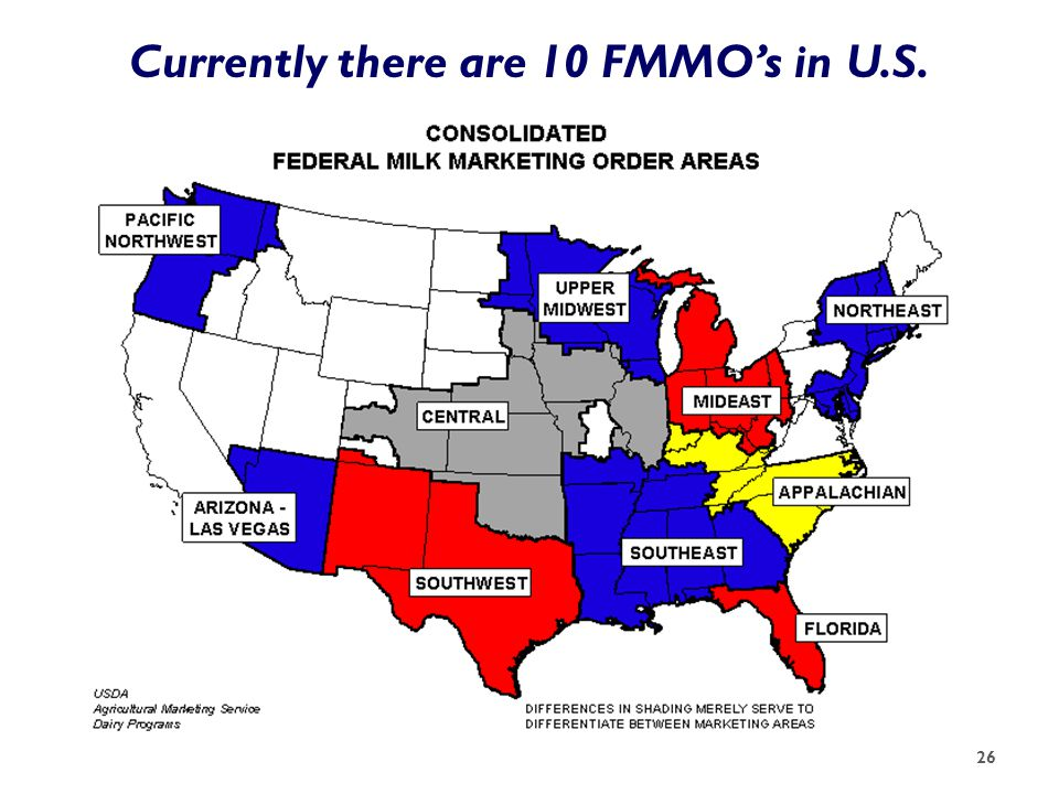 Currently there are 10 FMMO's in U.S. 26