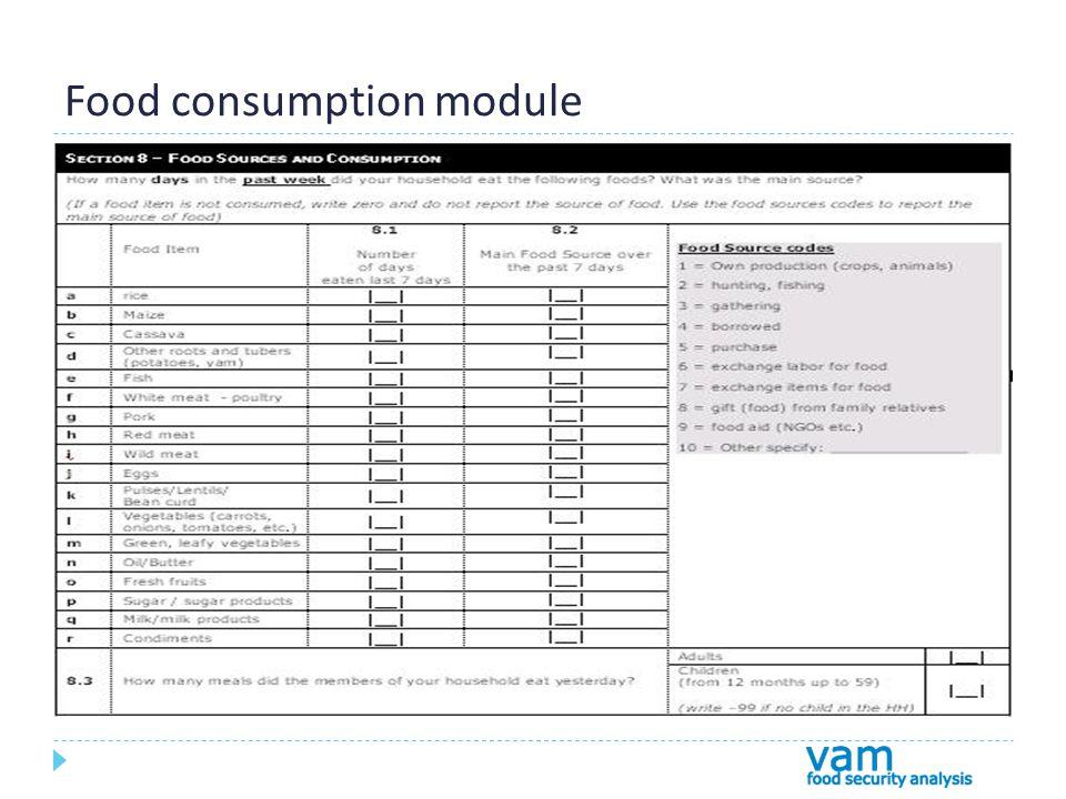 Food consumption module