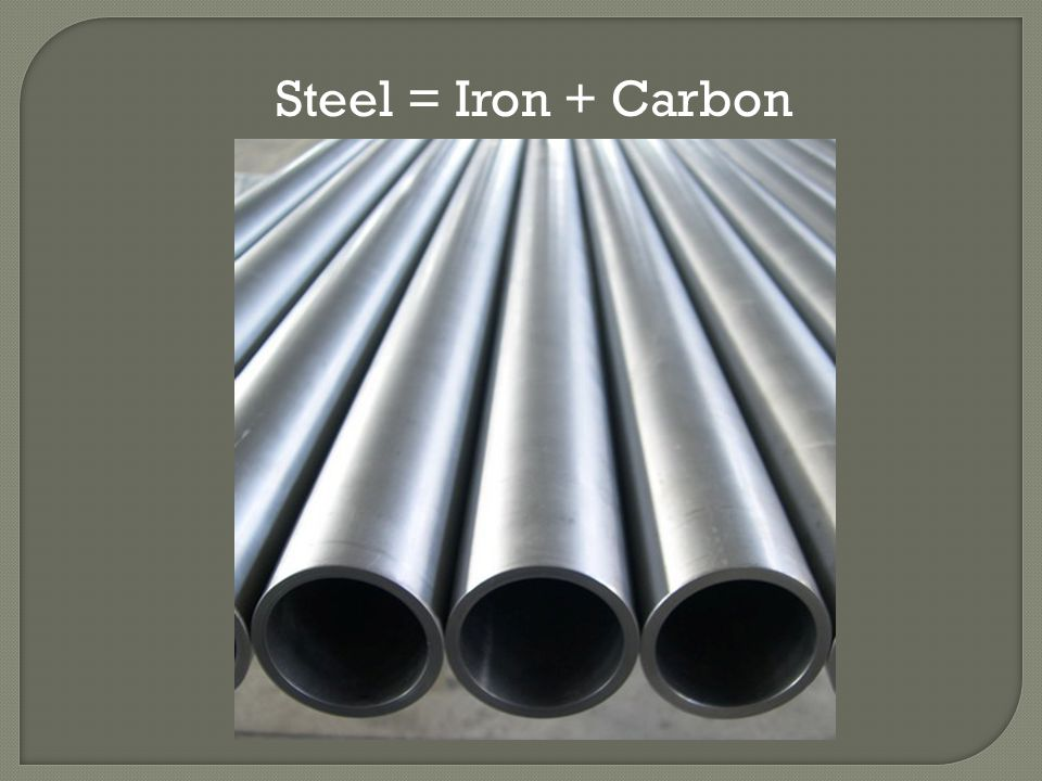 Steel = Iron + Carbon