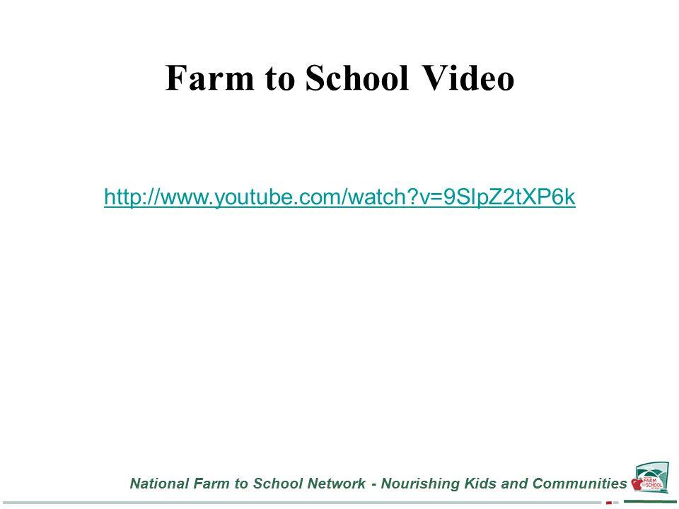 National Farm to School Network - Nourishing Kids and Communities Farm to School Video http://www.youtube.com/watch v=9SlpZ2tXP6k