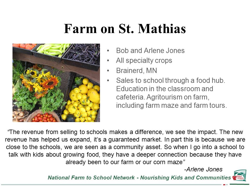 National Farm to School Network - Nourishing Kids and Communities Farm on St.