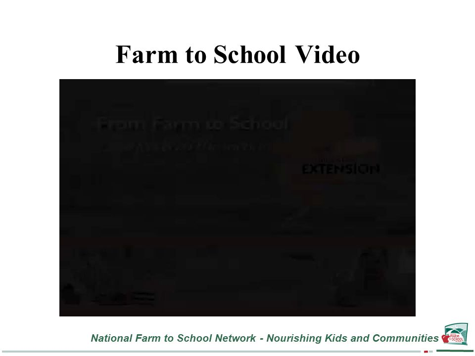 National Farm to School Network - Nourishing Kids and Communities Farm to School Video