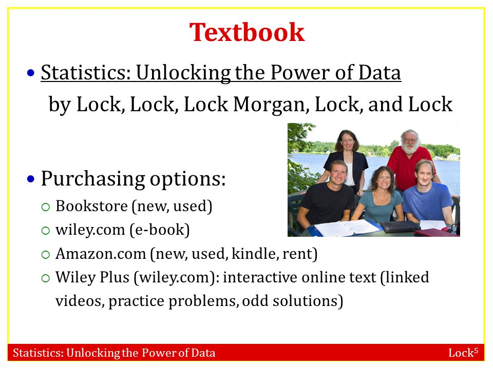 Statistics: Unlocking the Power of Data Lock 5 Introduction to Data SECTION 1.1 Data Cases and variables Categorical and quantitative variables Using data to answer a question