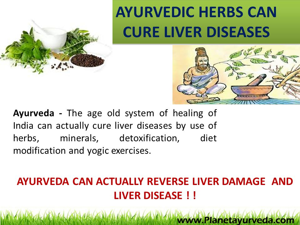 AYURVEDIC HERBS CAN CURE LIVER DISEASES AYURVEDA CAN ACTUALLY REVERSE LIVER DAMAGE AND LIVER DISEASE ! ! Ayurveda - The age old system of healing of I
