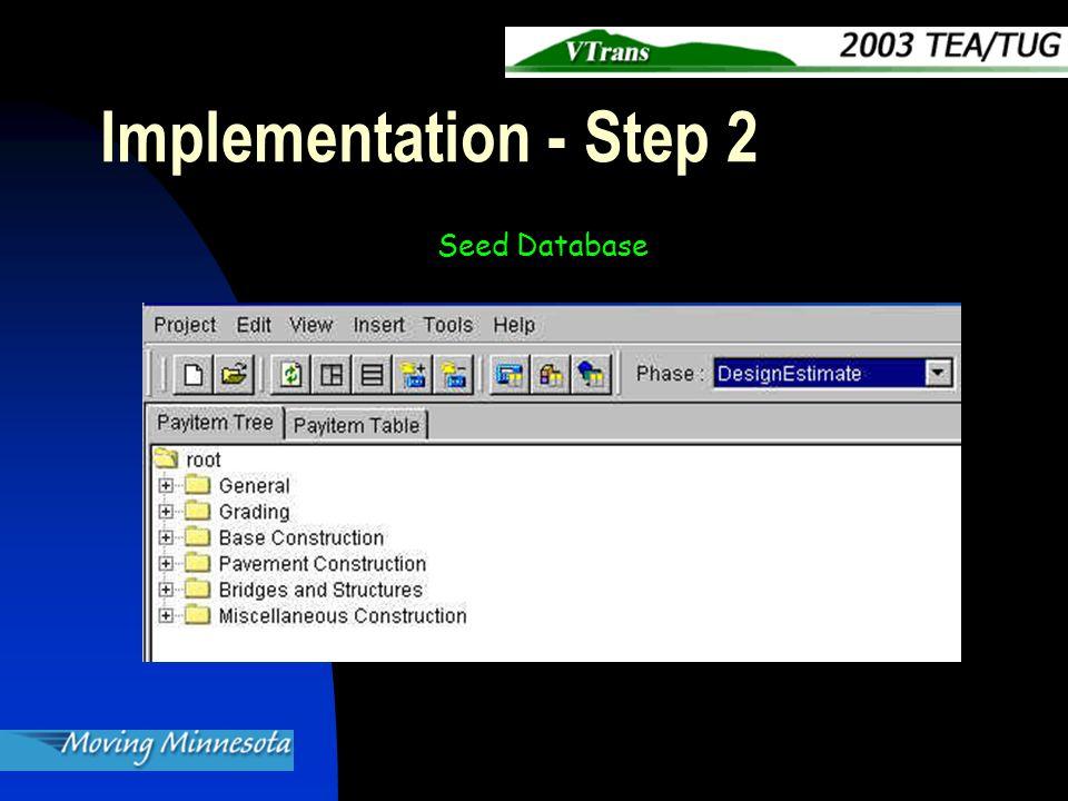 Implementation - Step 2 Seed Database