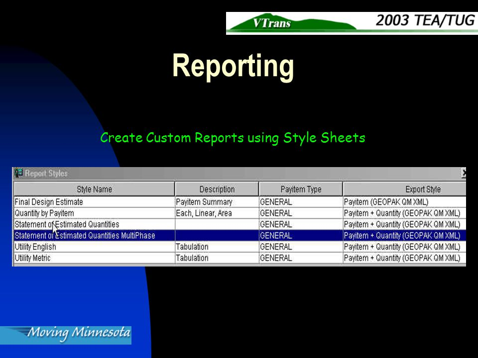 Reporting Create Custom Reports using Style Sheets
