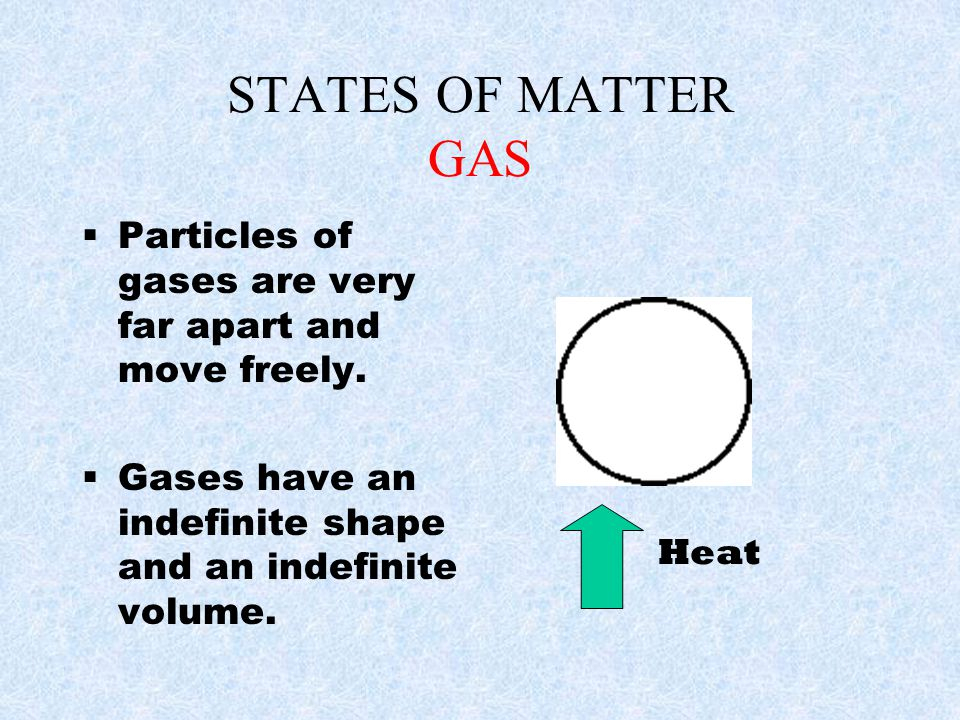 Chemical changes in matter The matter is changed into new Matter—it no longer has the same chemical make-up –Burning –Rusting –Rotting of fruit –Baking a cake or pancakes –Digestion of food –Frying or boiling and egg –Photosynthesis –Souring or Curdling of milk