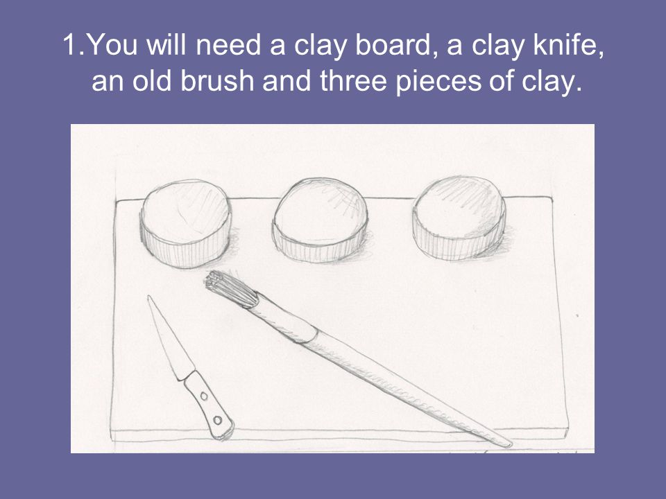 2. Form a ball with each piece of clay.