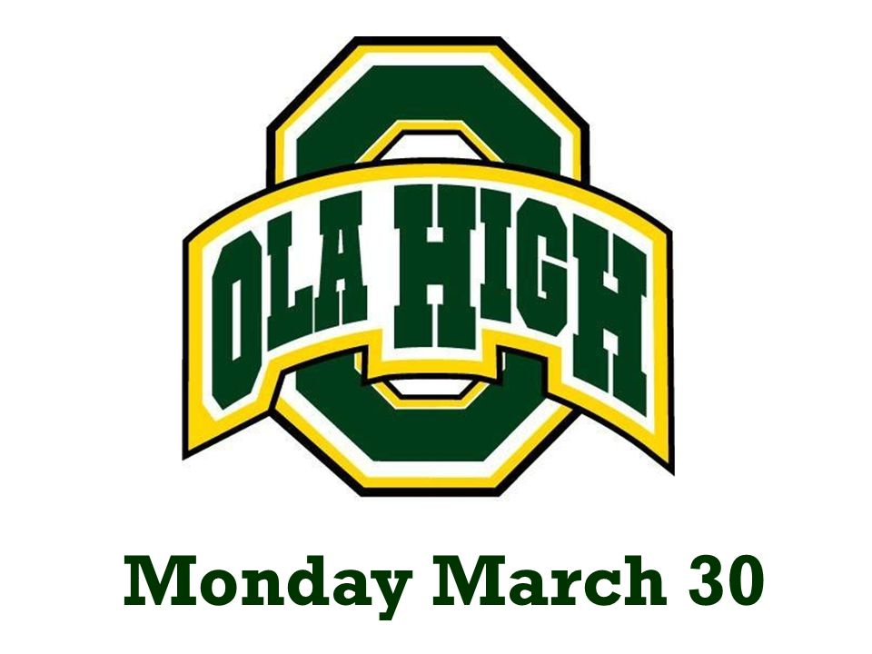 Monday March 30