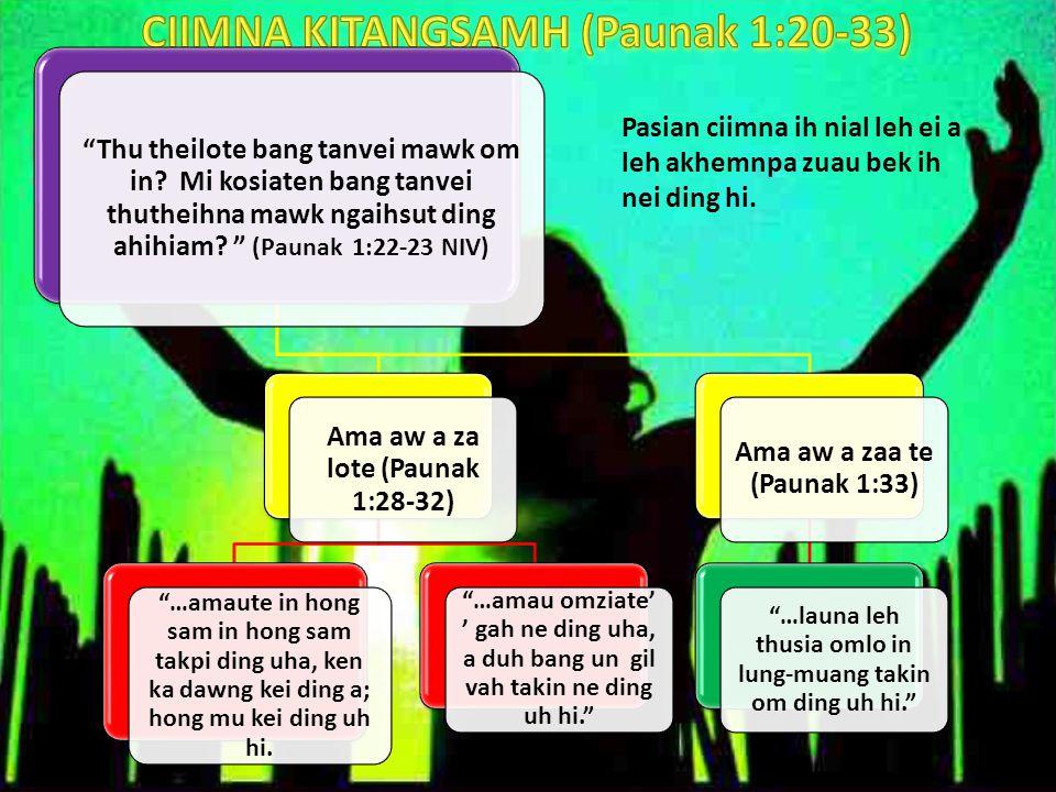 A.CIIMNA KOICI NGAH DING: 1.Thu man'na (v.1-2) 2.Thuumna (v.