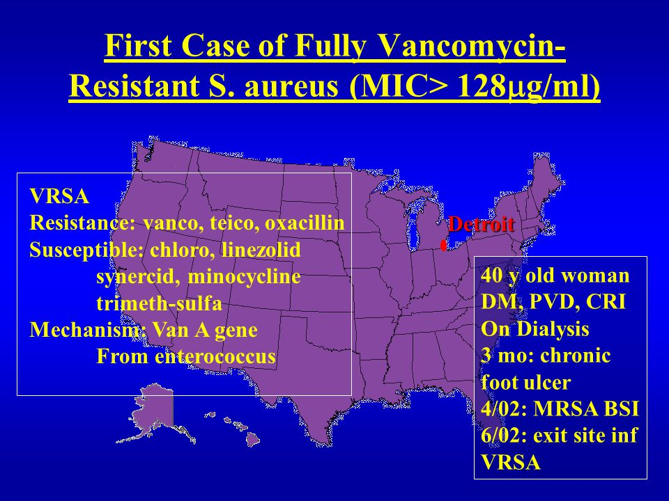 First Case of Fully Vancomycin- Resistant S.