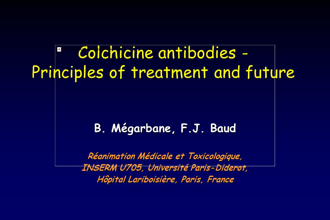 Direct colchicine-related cardiac injuries Biology alterations: Delayed elevation of myocardial enzymes (troponine, CPK-MB) Mullins ME.