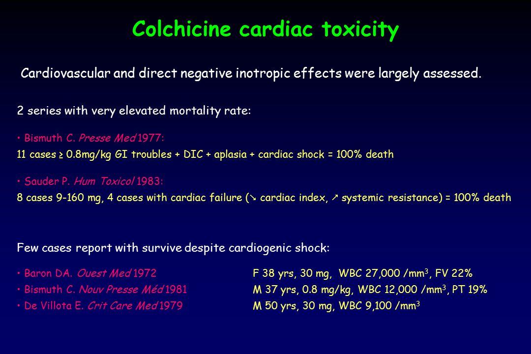 Sauder P. Hum Toxicol, 1983 Assessment of colchicine mechanism of cardiac toxicity