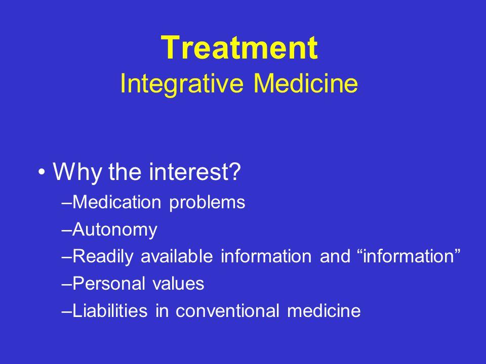 "Treatment Integrative Medicine ""Complementary"" ""Alternative"""